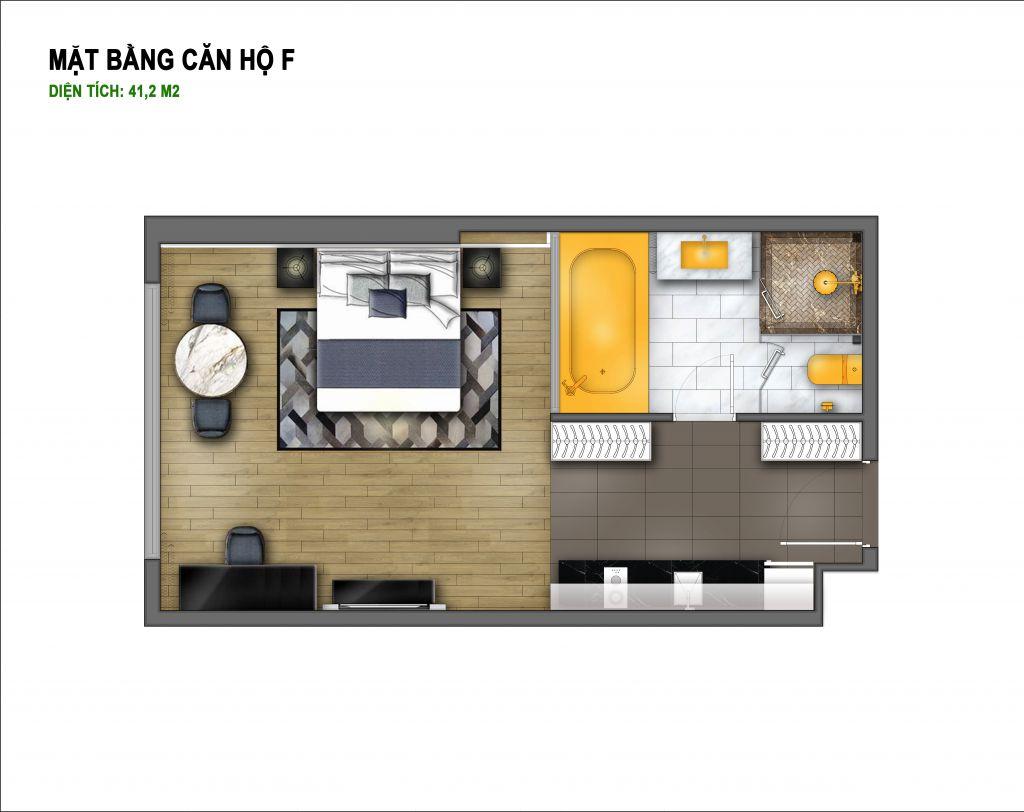 thiết kế chung cư hà nội golden lake căn hộ f