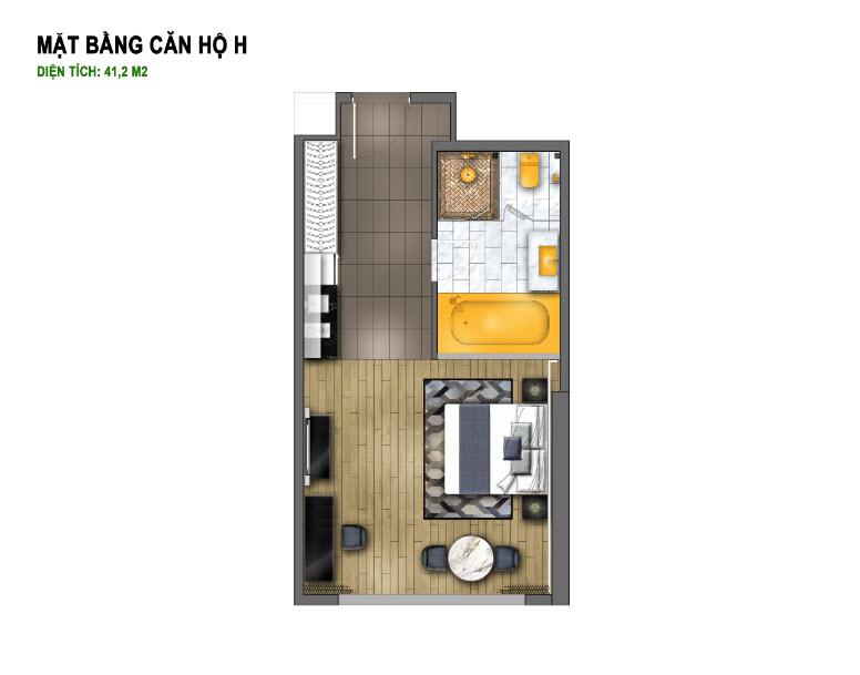 thiết kế chung cư hà nội golden lake căn hộ h