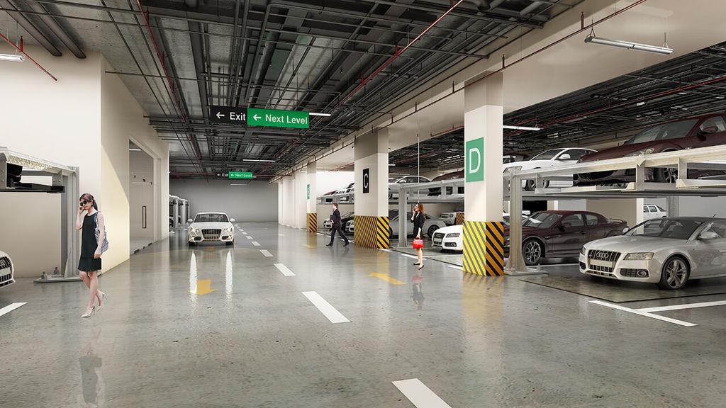 hầm để xe chung cư hateco laroma