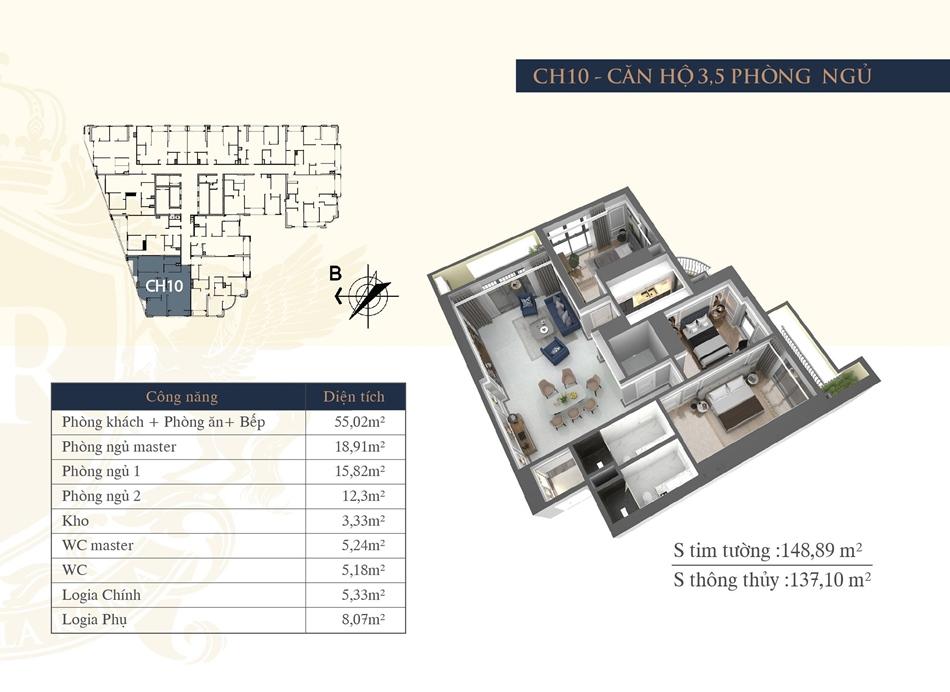 thiết kế chung cư hateco la roma ch10