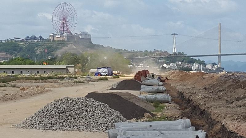 hình ảnh thực tế dự án đất nền cao xanh hà khánh