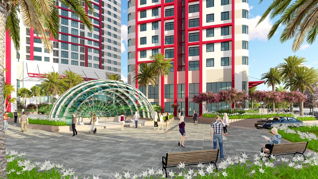 không gian xung quanh dự án sky view plaza