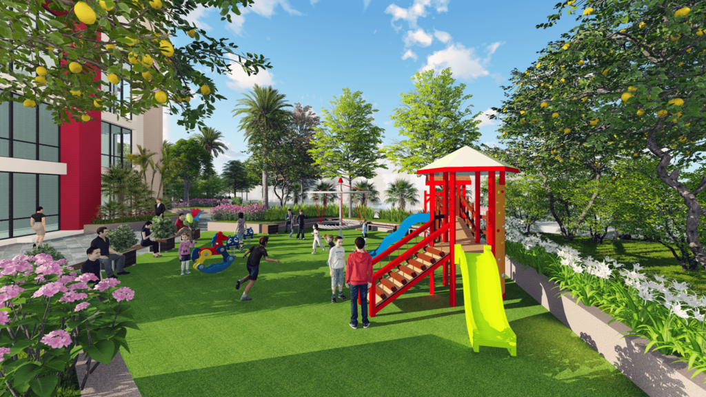 khu vui chơi trẻ em sky view plaza
