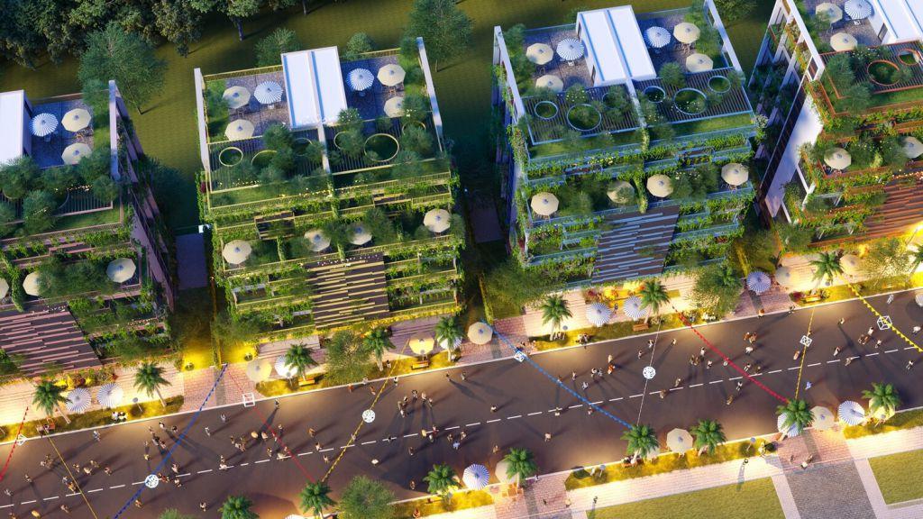 kiến trúc xanh tại dự án flamingo crown bay
