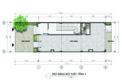 thiết kế liền kề aurora garden loại a tầng 1