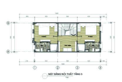 thiết kế liền kề aurora garden loại a tầng 3