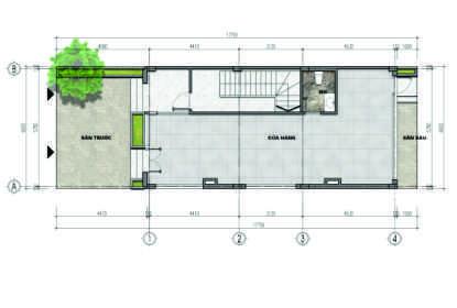 thiết kế liền kề aurora garden loại b tầng 1