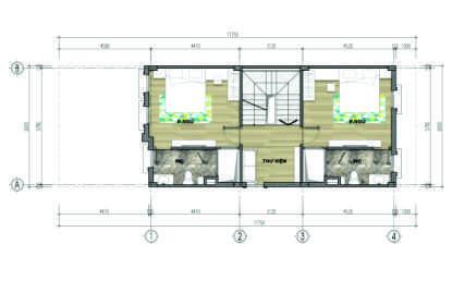 thiết kế liền kề aurora garden loại b tầng 3