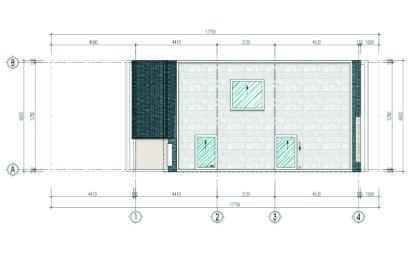 thiết kế liền kề aurora garden loại b tầng mái