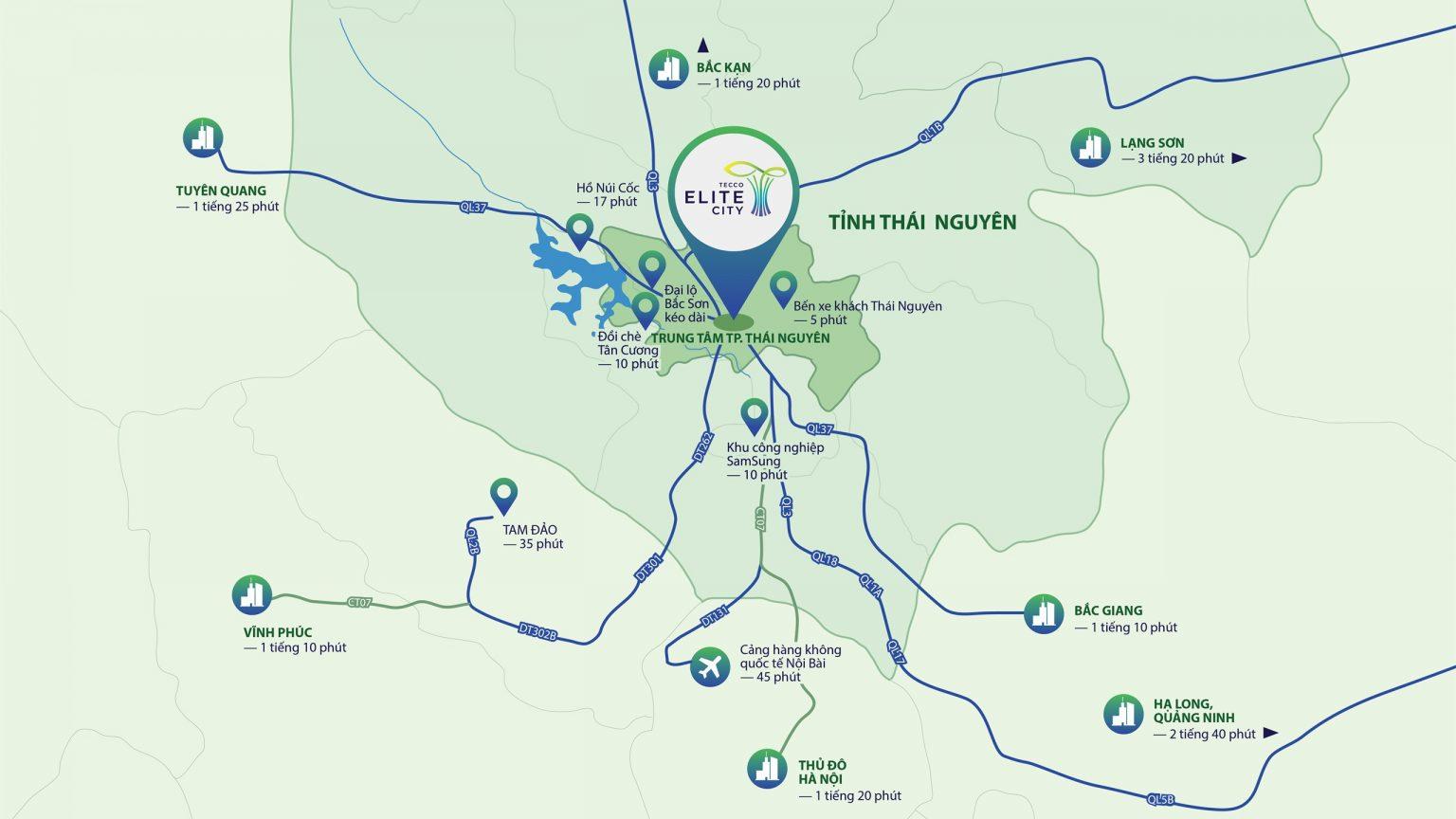 liên kết vùng dự án tecco elite city thái nguyên