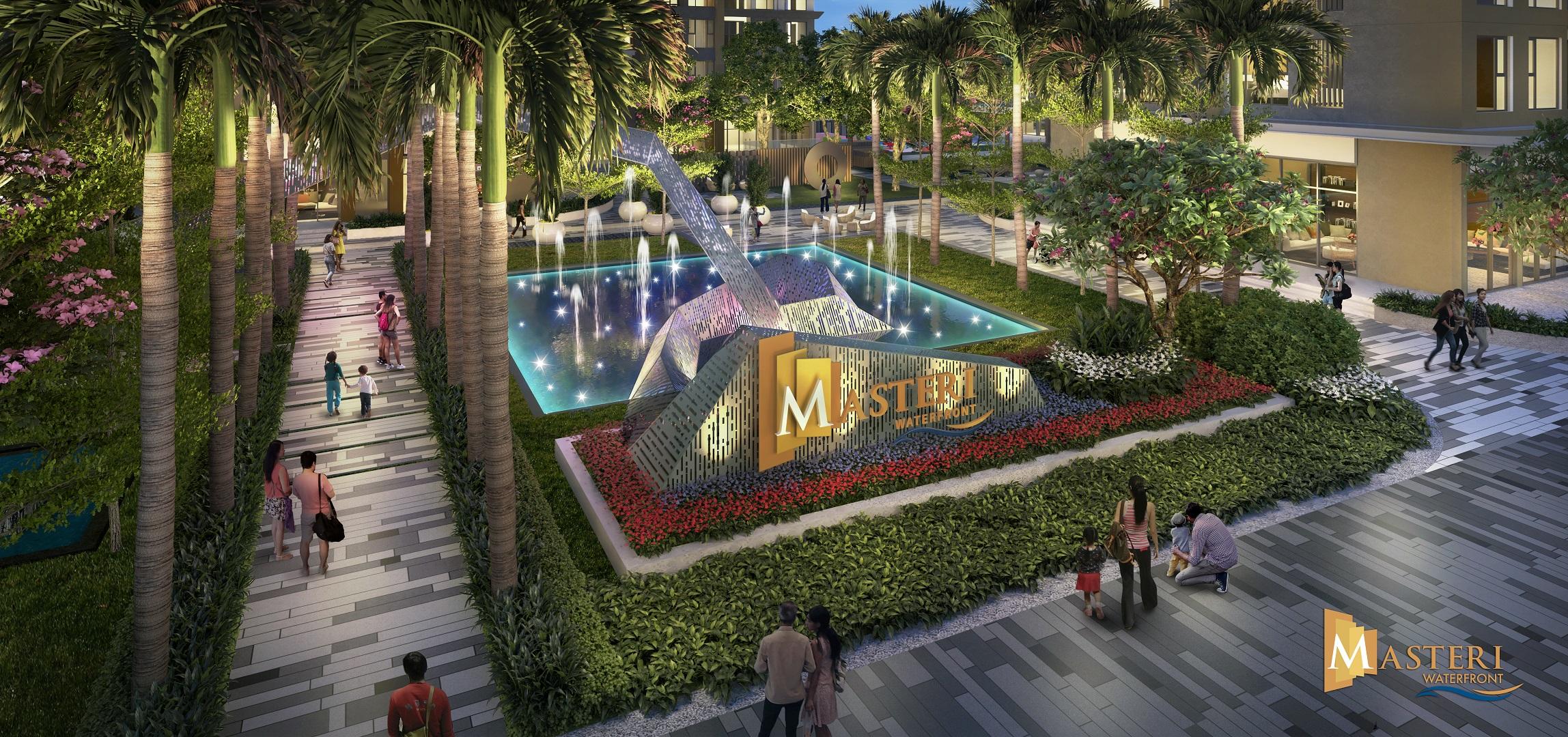 phối cảnh dự án masteri waterfront