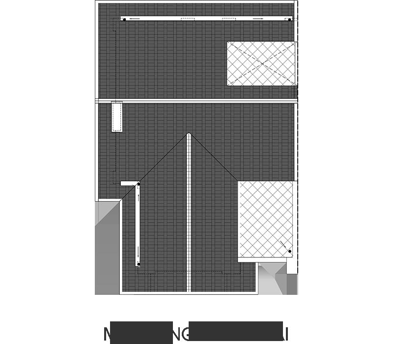 mặt bằng tầng mái biệt thự hateco 6