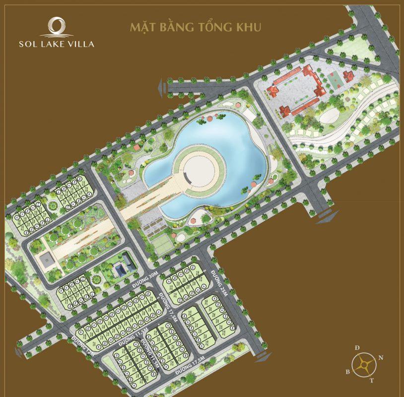 mặt bằng dự án sol lake villa