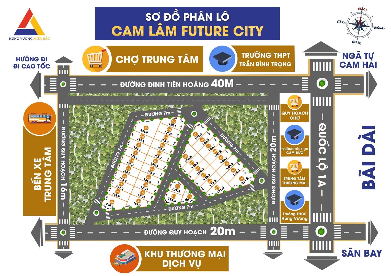 mặt bằng dự án cam lâm future city
