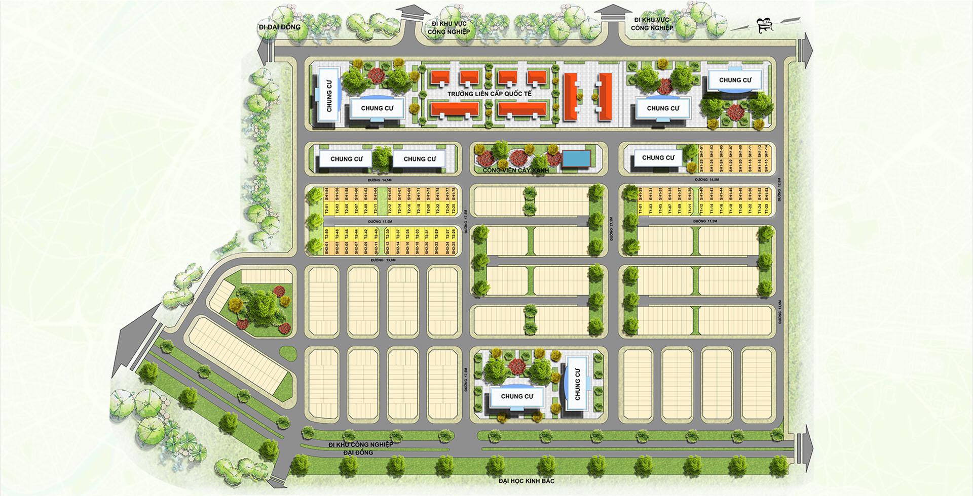 Mặt bằng dự án Centa Diamond Bắc Ninh