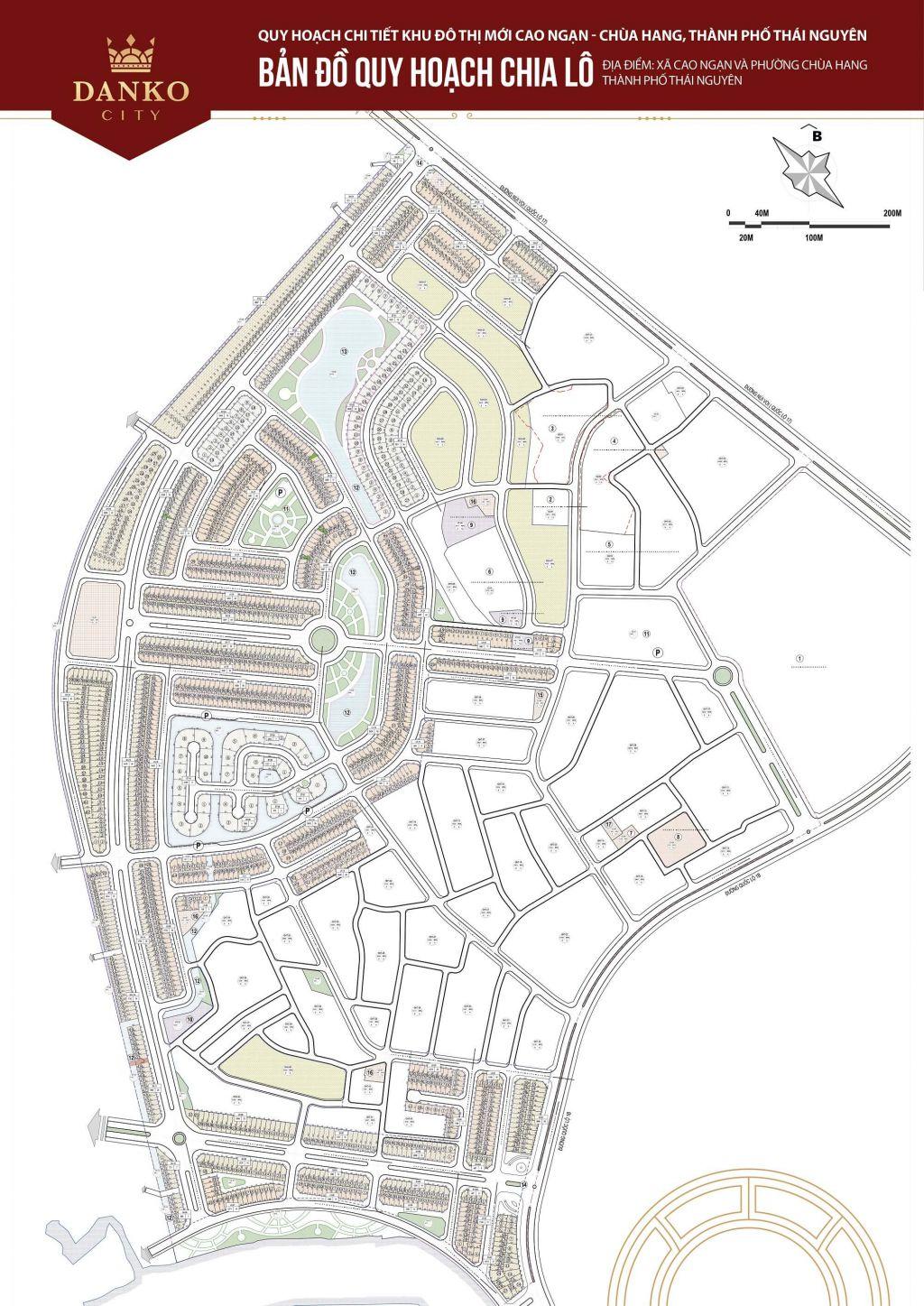 mặt bằng dự án danko city