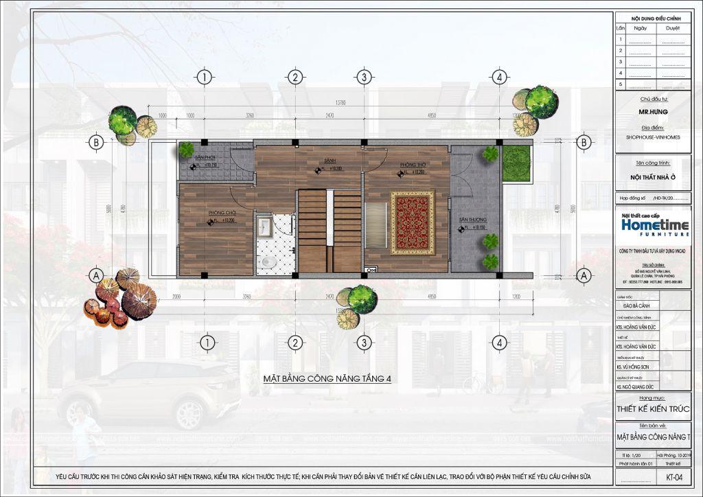 thiết kế liền kề eco gardenia thủy nguyên
