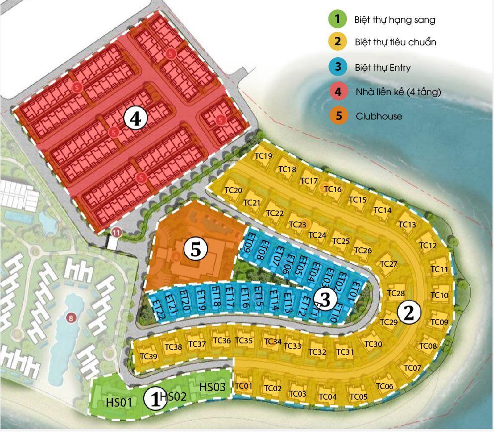 mặt bằng dự án grand bay hạ long villas giai đoạn A