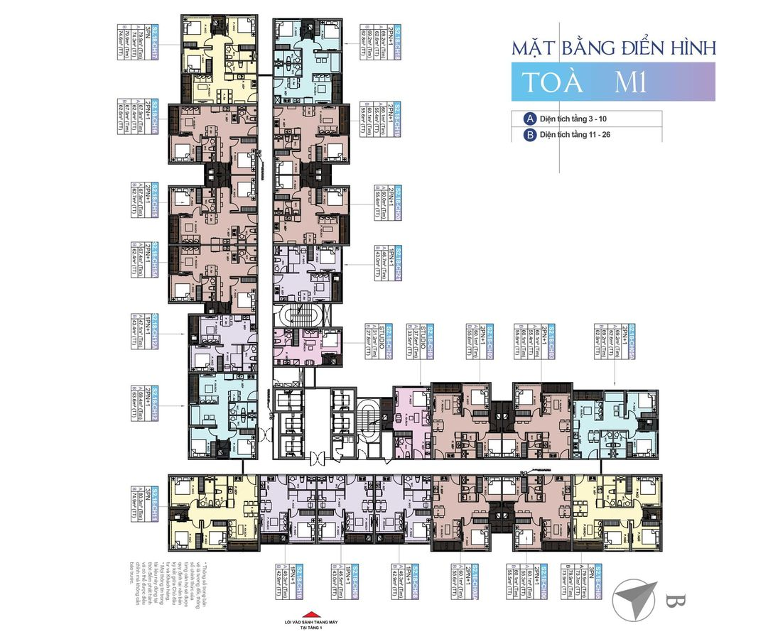 mặt bằng chung cư masteri ocean park tòa m1