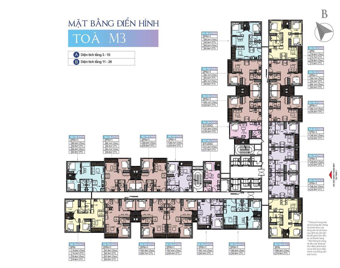 mặt bằng chung cư masteri ocean park tòa m3