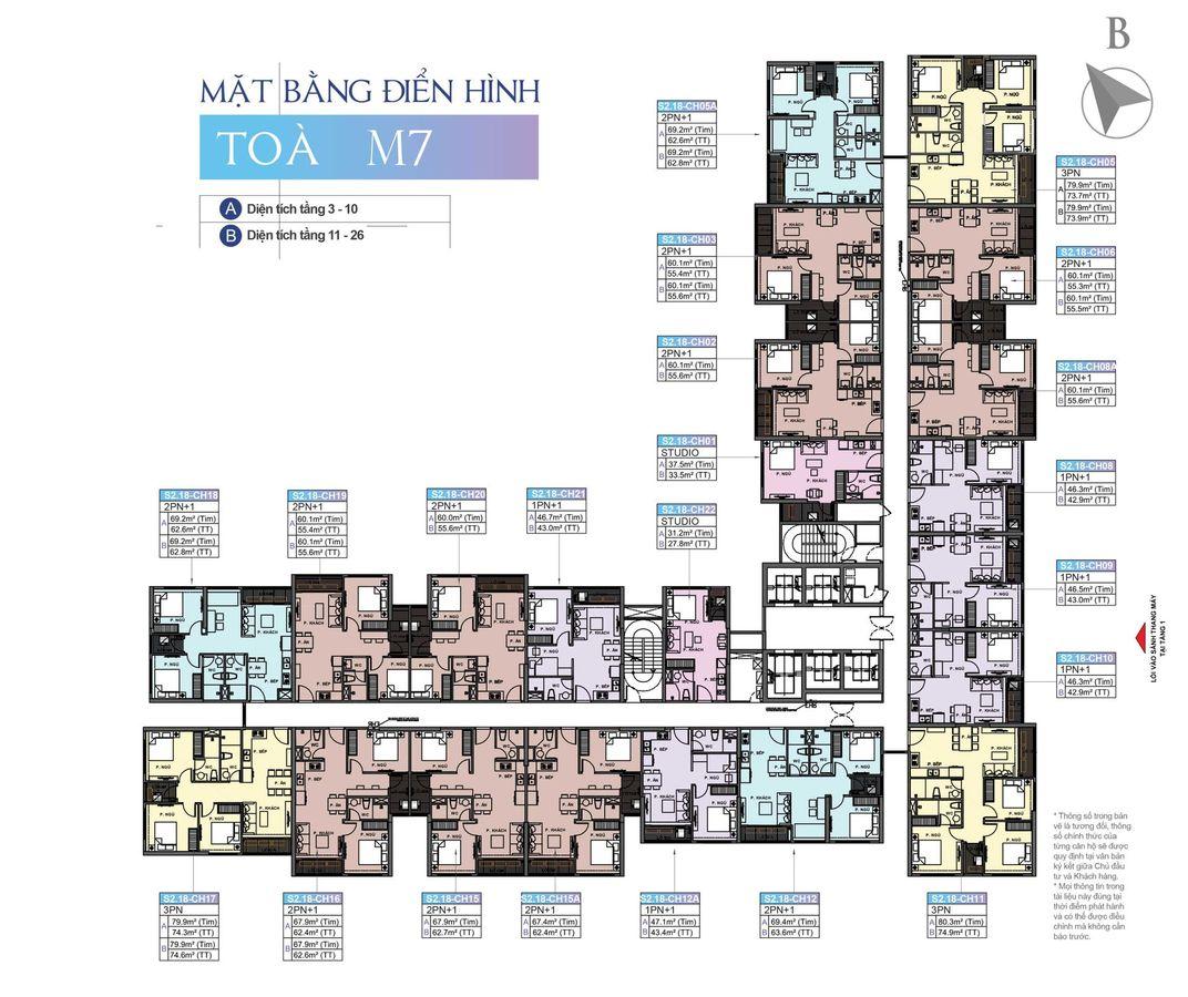 mặt bằng chung cư masteri ocean park tòa m7