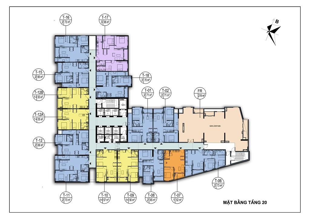 mặt bằng dự án park view city bắc ninh tầng 20