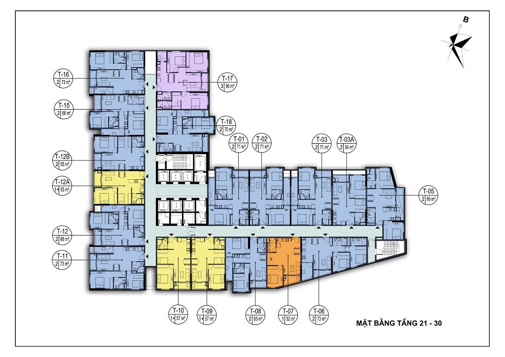 mặt bằng dự án park view city bắc ninh tầng 21-30