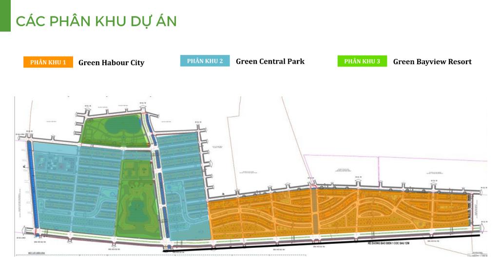 mặt bằng phân khu dự án green dragon