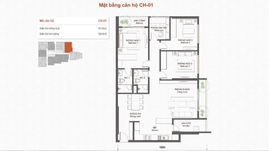 thiết kế chung cư premier berriver căn 01