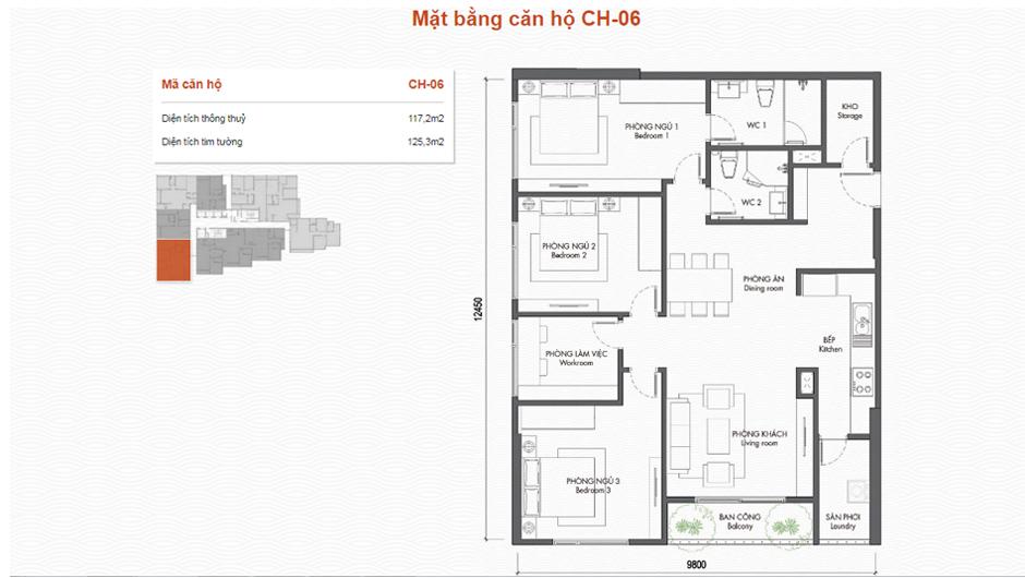 thiết kế chung cư premier berriver căn 06