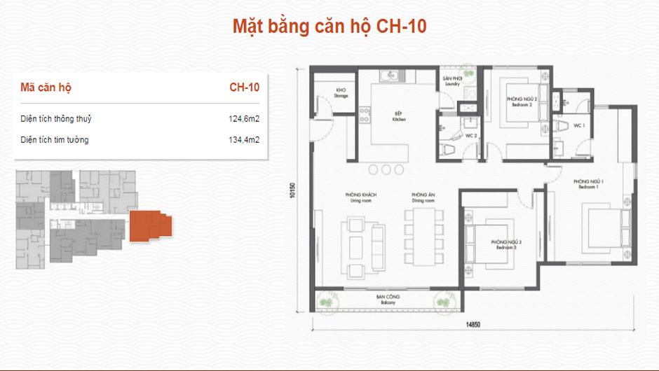 thiết kế chung cư premier berriver căn 10