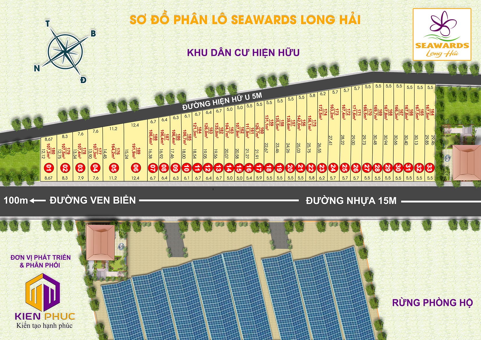 mặt bằng phân lô dự án seawards long hải
