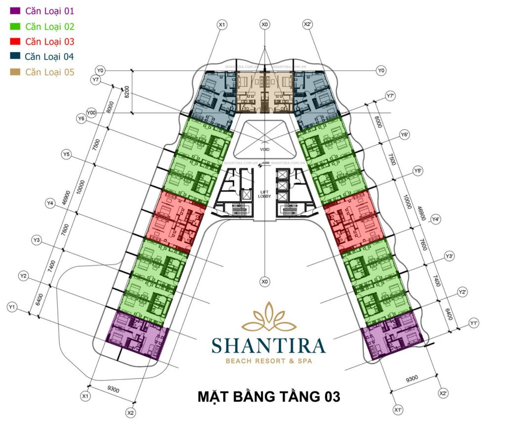 mặt bằng dự án shantira luxury condo hội an