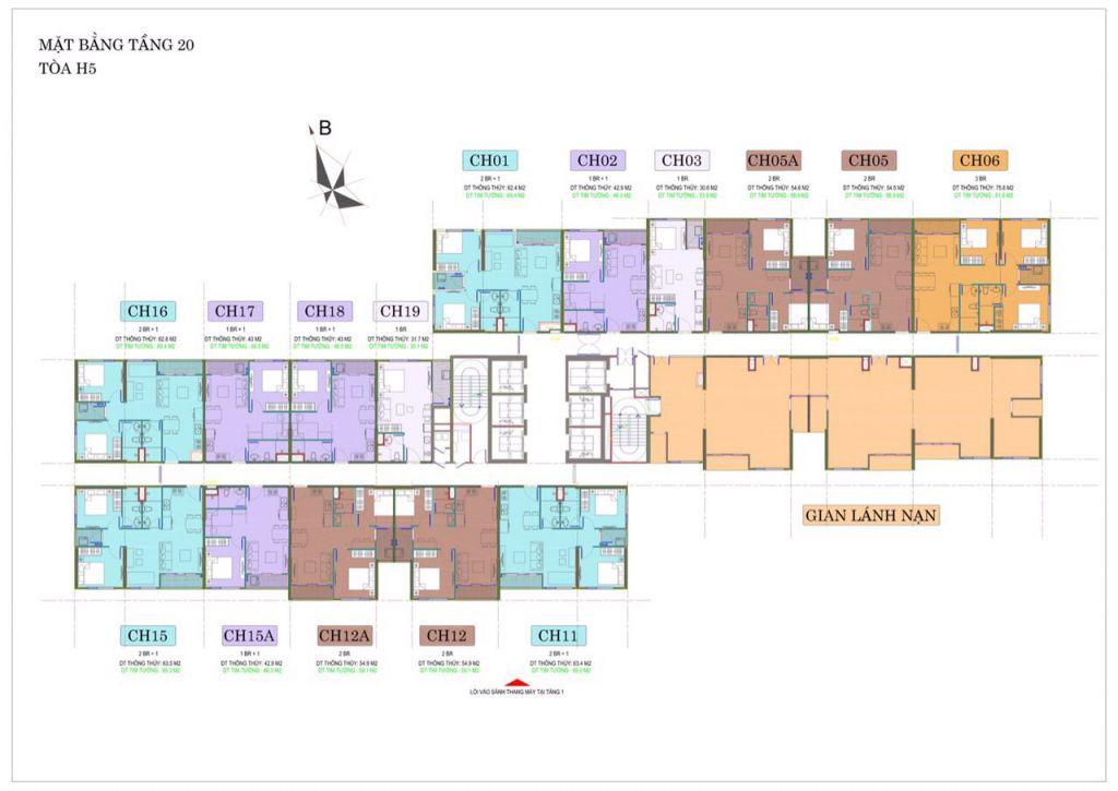 mặt bằng tòa h5 vincity sportia tầng 20