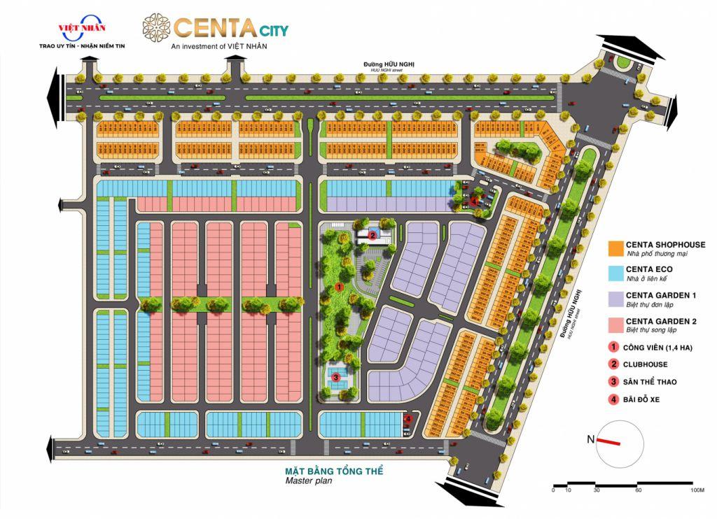 mặt bằng dự án centa city