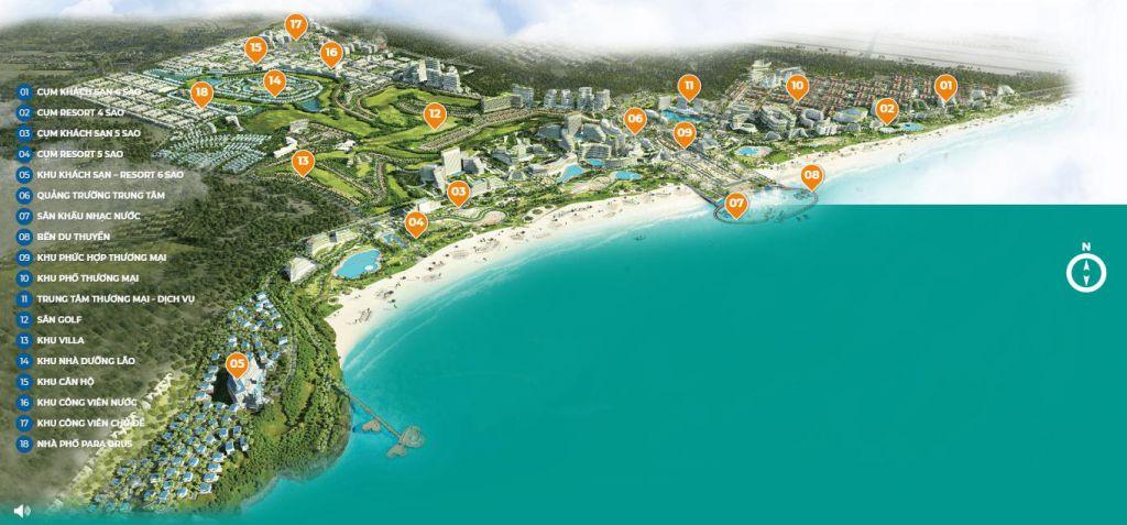 mặt bằng dự án kn paradise cam ranh