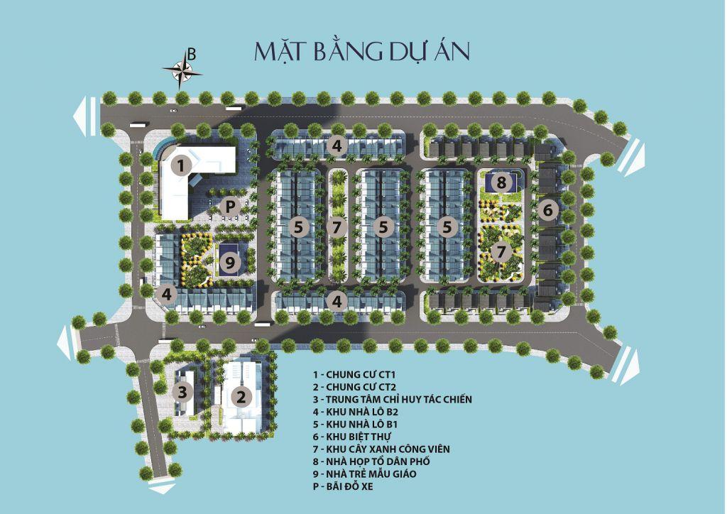mặt bằng tổng thể dự án thăng long city