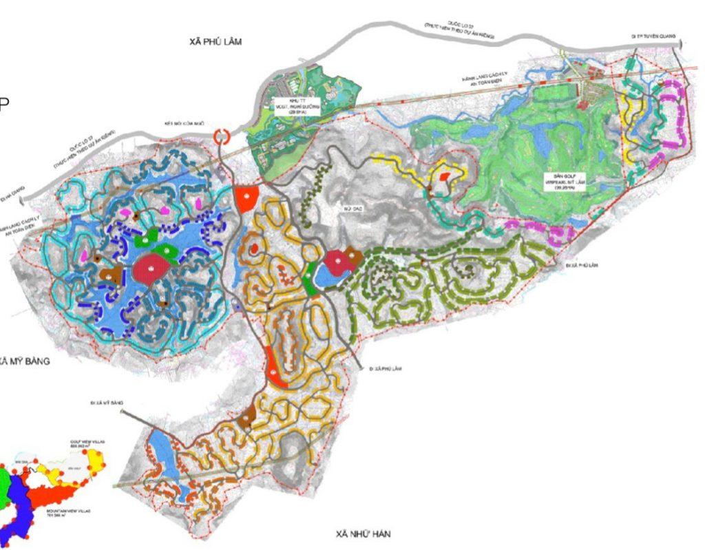 mặt bằng tổng thể dự án Spring Hills Tuyên Quang