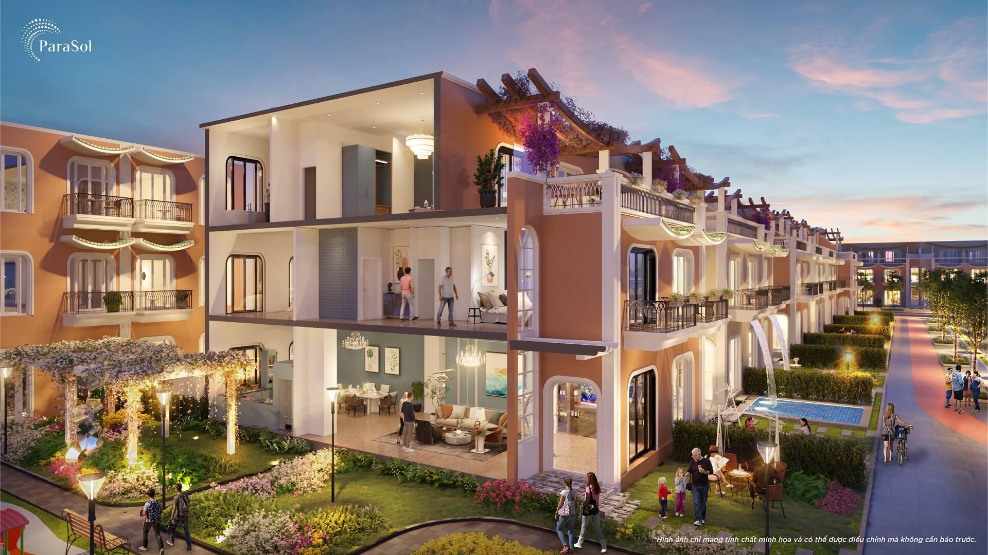 mặt cắt unique villa