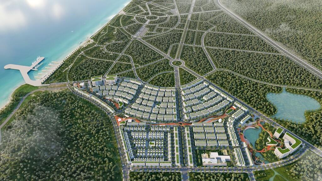 phối cảnh view từ trên cao dự án meyhomes capital phúc quốc