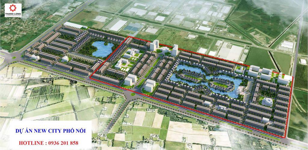phối cảnh dự án new city phố nối