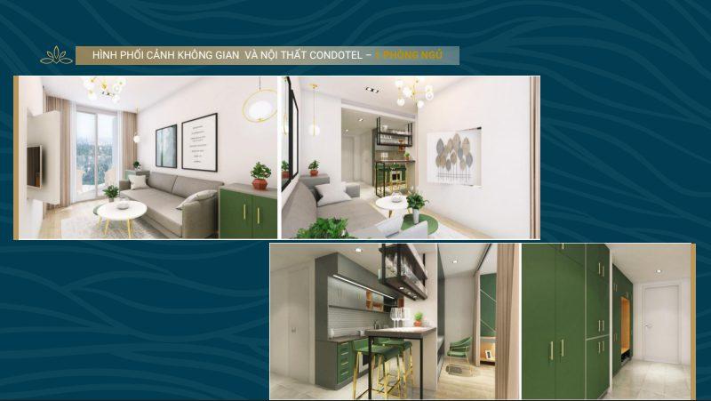nội thất shantira luxury condo 1 ngủ
