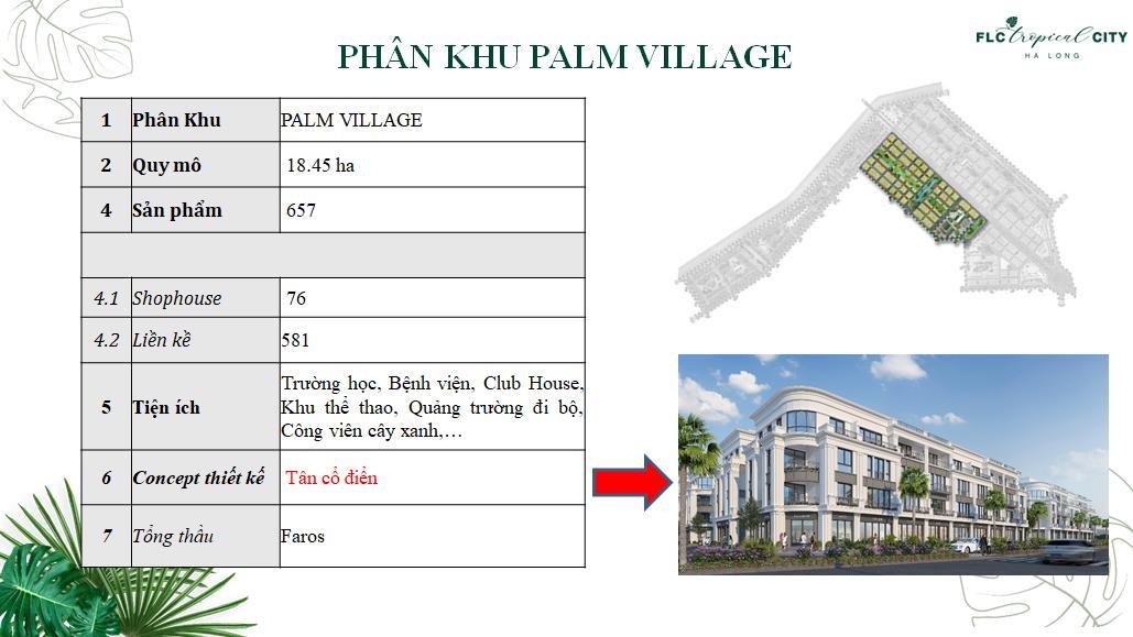 phân khu palm village
