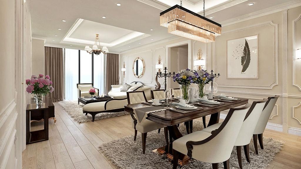 phòng khách biệt thự grandeur palace giảng võ