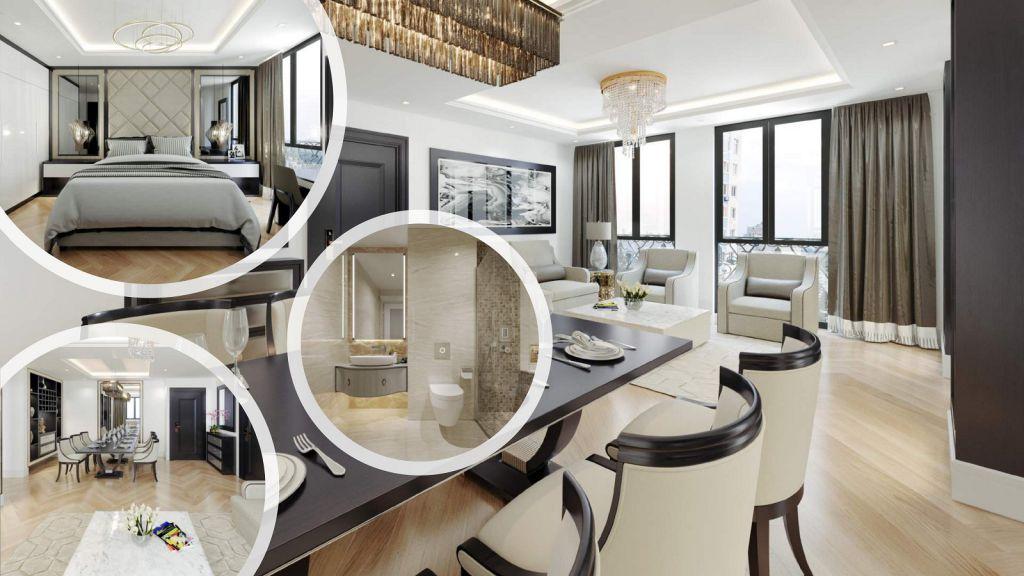 phòng khách chung cư t-place