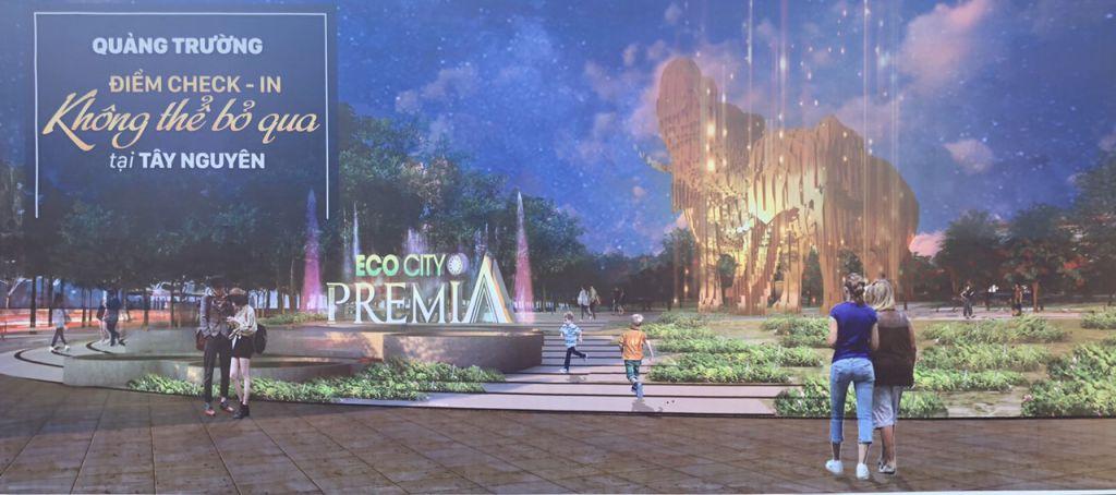quảng trường dự án premier eco city