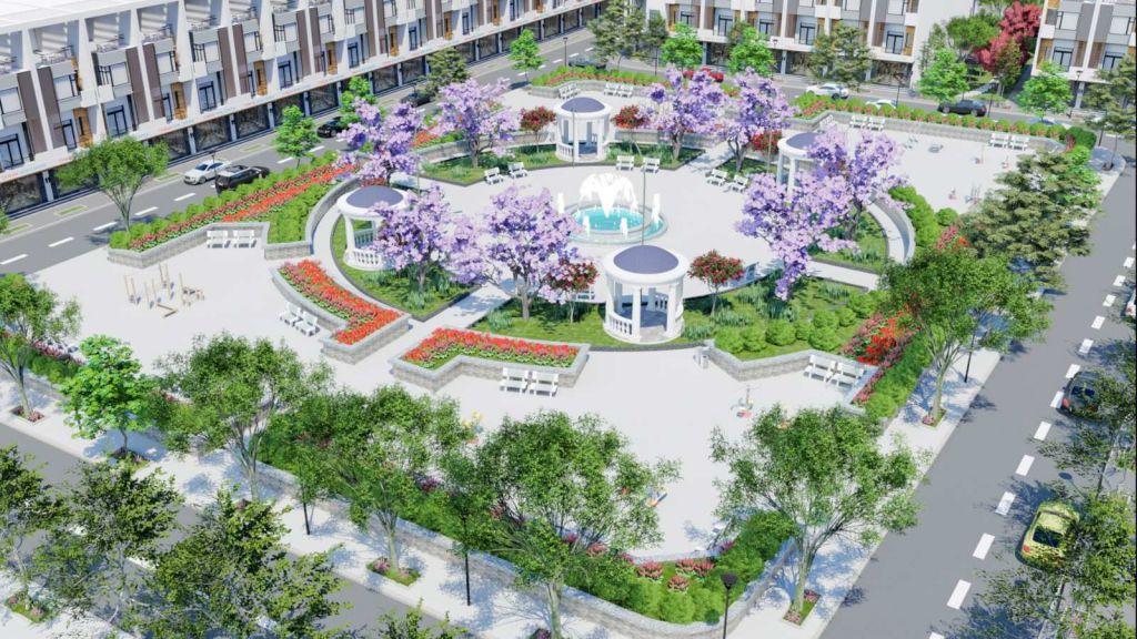 quảng trường dự án tam đa new center yên phong