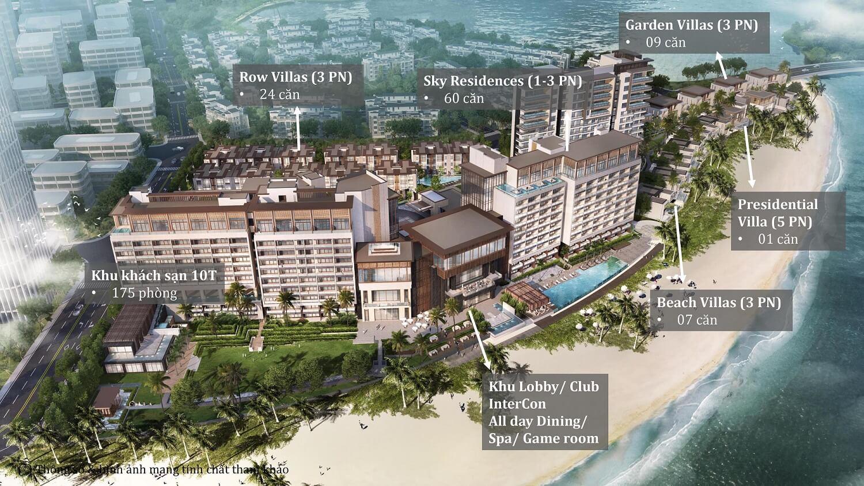 quy mô dự án intercontinental residences hạ long bay