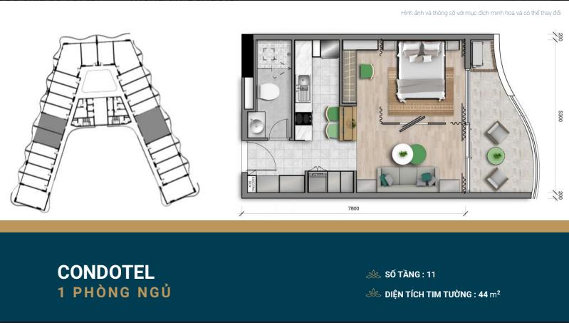 thiết kế shantira luxury condo 1 ngủ