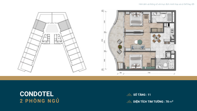 thiết kế shantira luxury condo 2 ngủ